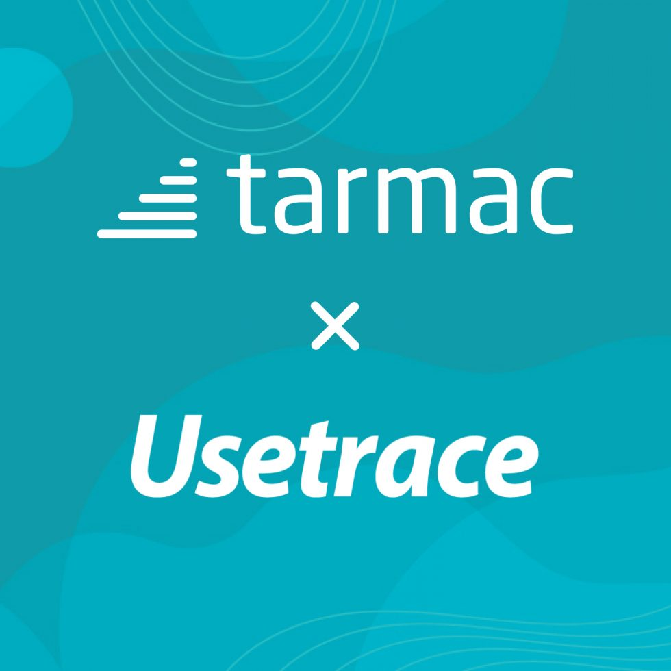 Tarmac and Usetrace company logos