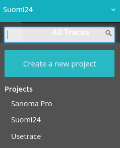 Change current test project from the project menu.